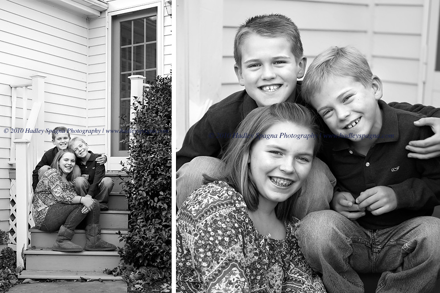 Three Sweet Smiling Faces by Fairfield Child Photographer Hadley Spagna