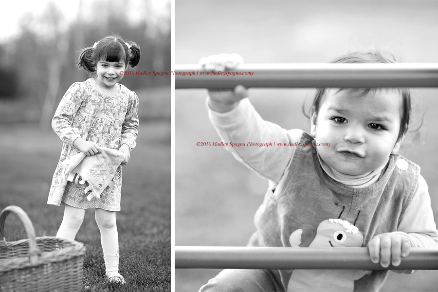 Child Photographer Hadley Spagna captures two adorable children outdoors